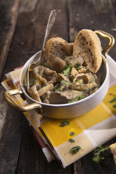 Setas sopa presentación negro mesa otono Foto stock © Fotografiche