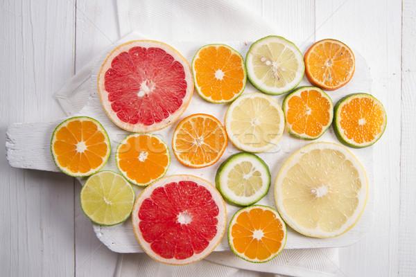 Couleurs fruits mélange tranches Photo stock © Fotografiche