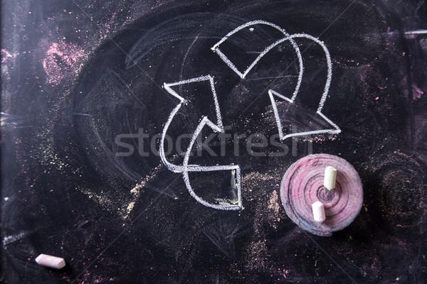 シンボル リサイクル 操作 リサイクル チョーク ストックフォト © Fotografiche