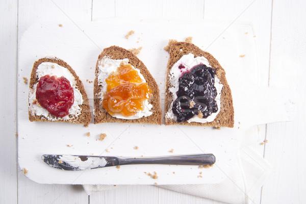 朝食 パン ジャム イタリア語 全粒粉パン バター ストックフォト © Fotografiche
