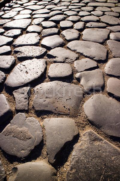 Ancient road of stones  Stock photo © Fotografiche