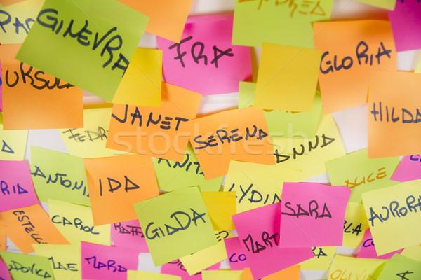 Women's names Stock photo © Fotografiche