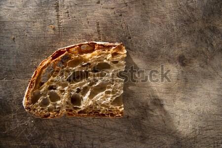 Szelet kenyérszelet teljes kiőrlésű kenyér főtt fa sütő Stock fotó © Fotografiche