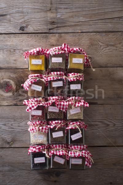 Small pantry of the aromas Stock photo © Fotografiche