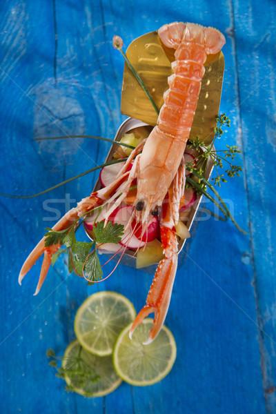 Tanıtım karışık sebze kutu balık Stok fotoğraf © Fotografiche