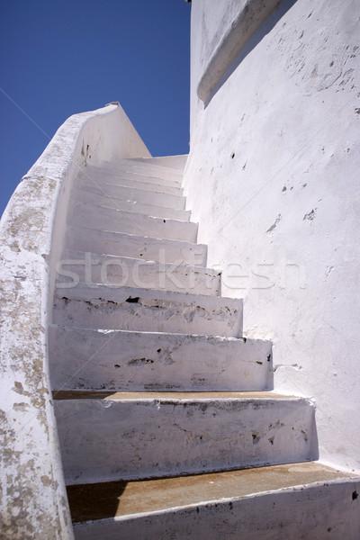 Blanco escalera albañilería particular arquitectónico color Foto stock © Fotografiche
