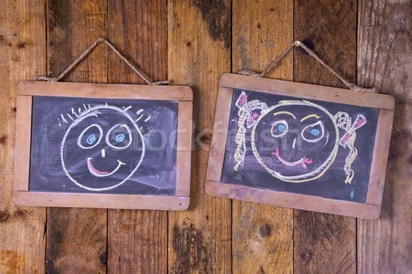 Férj feleség grafikus pár szeretet férfi Stock fotó © Fotografiche