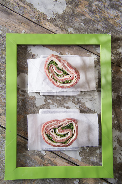 Roll of raw meat  Stock photo © Fotografiche