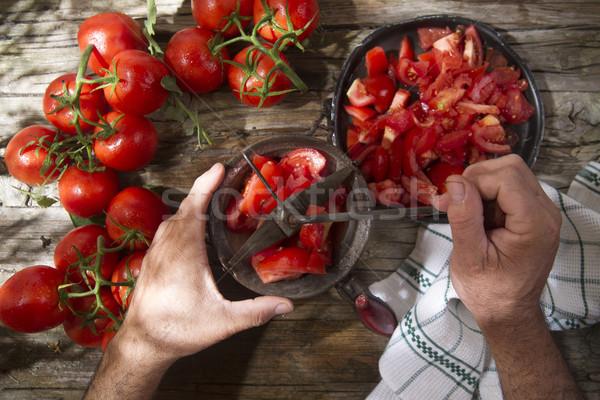 Passed round tomato Stock photo © Fotografiche