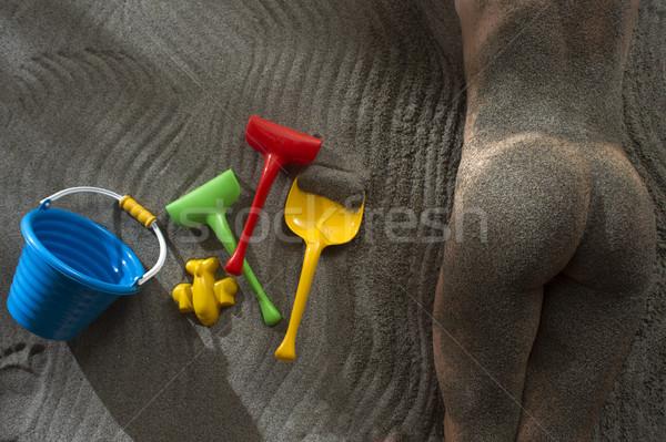 été jeux plage souvenirs sable mer Photo stock © Fotografiche