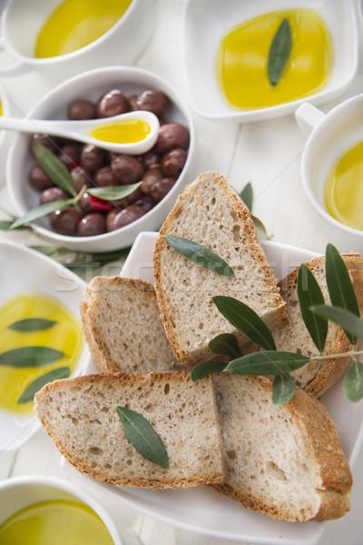 Bread and olive oil  Stock photo © Fotografiche