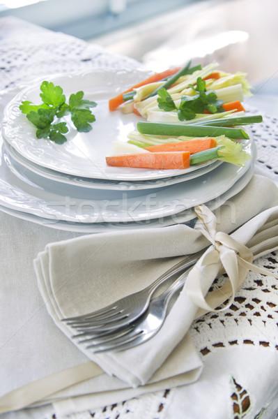 Presentation of mixed vegetables  Stock photo © Fotografiche