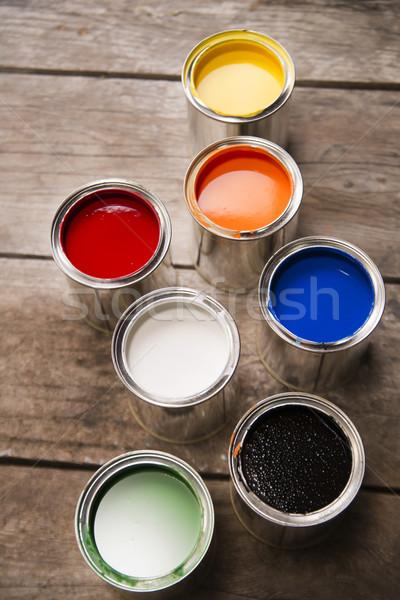 Boya tanıtım renkler dizayn arka plan Stok fotoğraf © Fotografiche