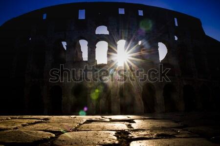 świcie powrót świetle niebo Zdjęcia stock © Fotografiche