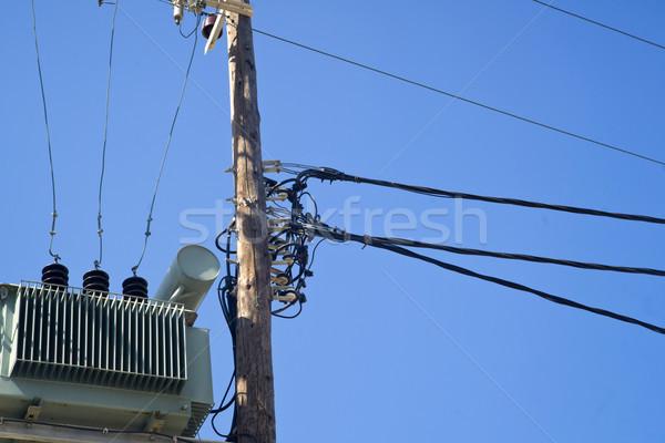 Stock fotó: Közlekedés · elektromosság · öreg · elektromos · energia · város