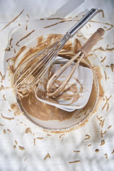Zweep voorbereiding zoete gerechten gebruikt Stockfoto © Fotografiche