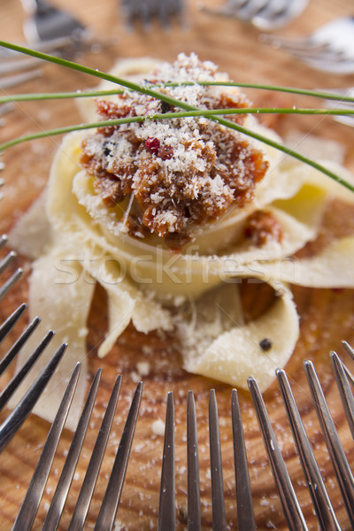 Viande sauce présentation première plat tomate Photo stock © Fotografiche