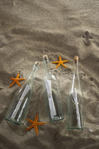 сообщение бутылку пляж коллекция центр Сток-фото © Fotografiche