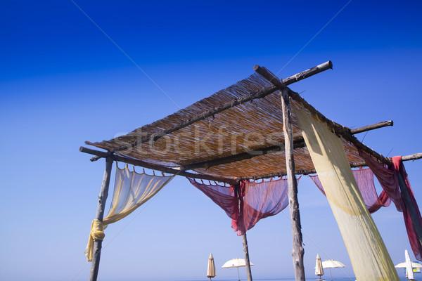 Artisanal summer gazebo Stock photo © Fotografiche