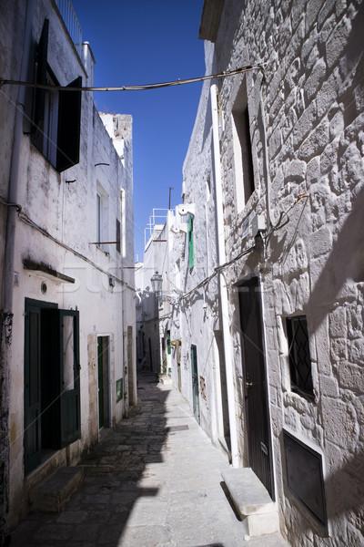 Witte wegen voetganger straten stad ontspannen Stockfoto © Fotografiche