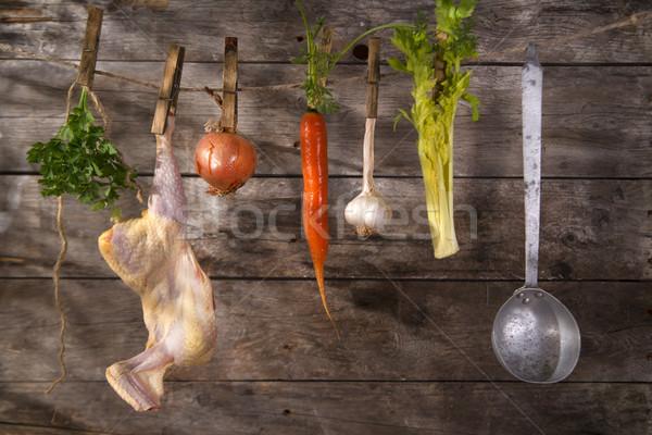 Chicken soup Stock photo © Fotografiche
