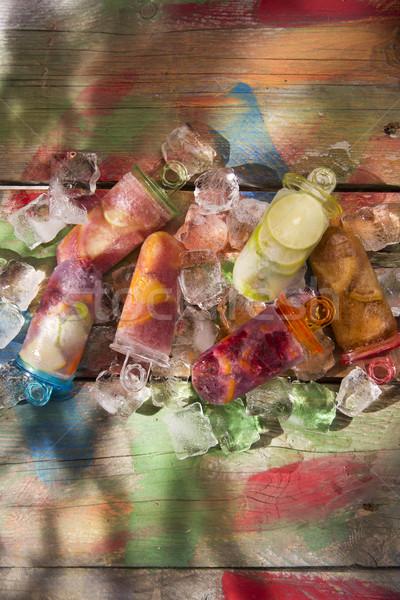 Ijskegel citrus cool af zomer pauze Stockfoto © Fotografiche