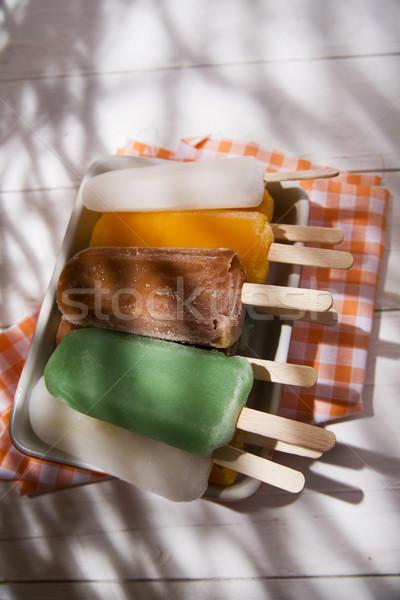 Jégcsap gyümölcs hideg el nyár törik Stock fotó © Fotografiche