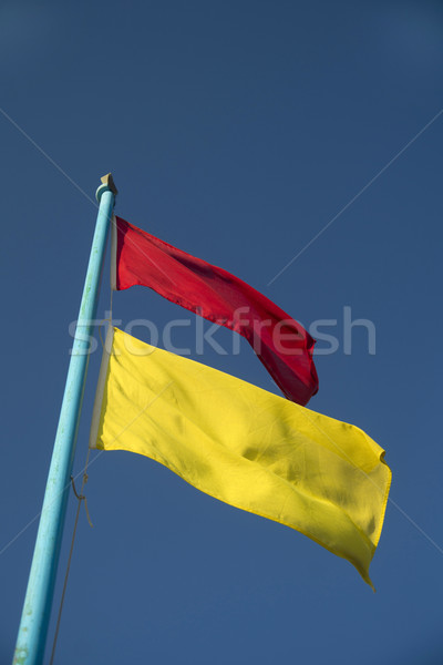 Flags of the beach monitoring Stock photo © Fotografiche