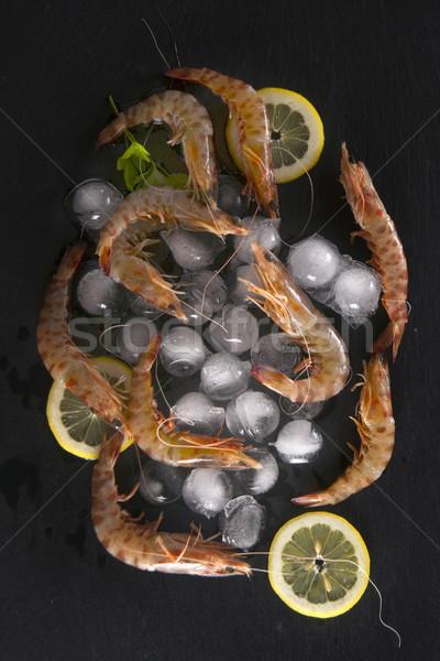 Citron présentation nombre table noir mer Photo stock © Fotografiche