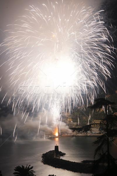 Fogos de artifício Itália evento tarde verão festa Foto stock © Fotografiche