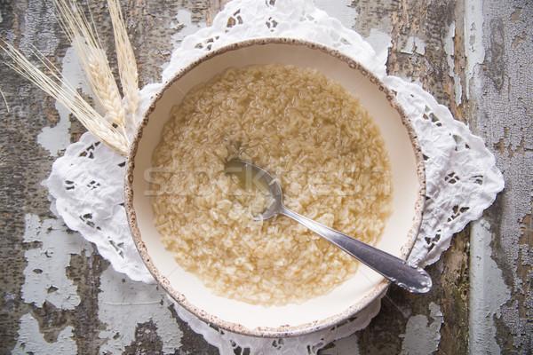 Soup for children  Stock photo © Fotografiche