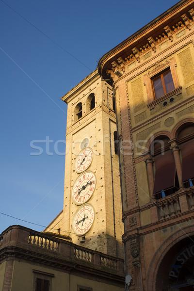 Kule kilise saatler şehir din Hristiyan Stok fotoğraf © Fotografiche