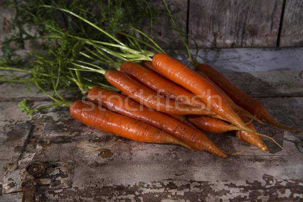 Havuç tanıtım taze asılı gıda Stok fotoğraf © Fotografiche