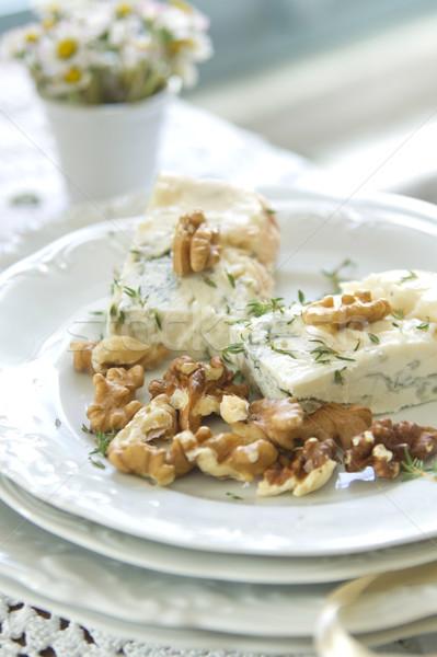 Stilton cheese and walnuts  Stock photo © Fotografiche