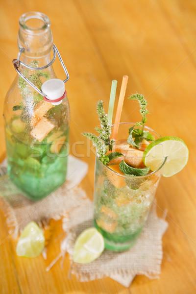 Mint and melon appetizer  Stock photo © Fotografiche