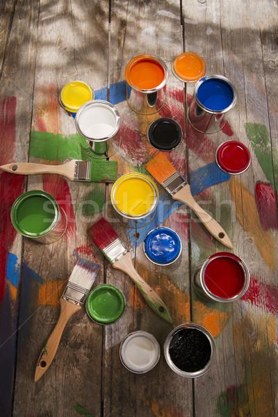 Renk ayarlamak yeni eski renkler Stok fotoğraf © Fotografiche