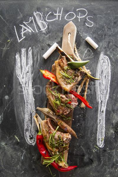 Baranka gotowany grill por czerwony pieprz Zdjęcia stock © Fotografiche