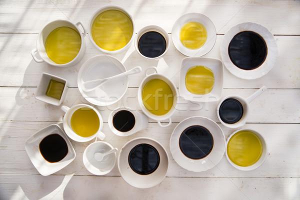 нефть уксус презентация фундаментальный Ингредиенты итальянская кухня Сток-фото © Fotografiche