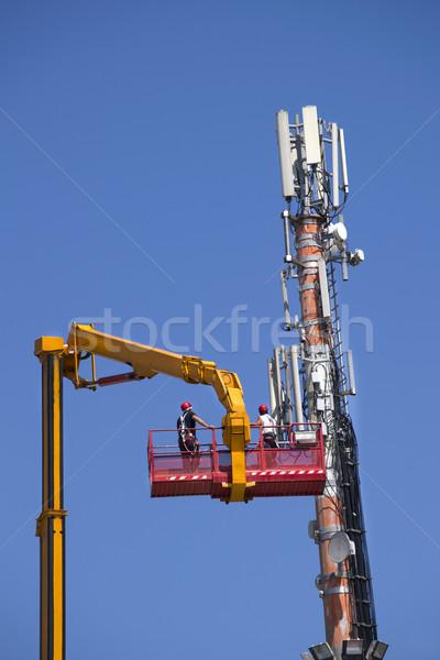 Entretien antenne communications contrôle communication technologie Photo stock © Fotografiche