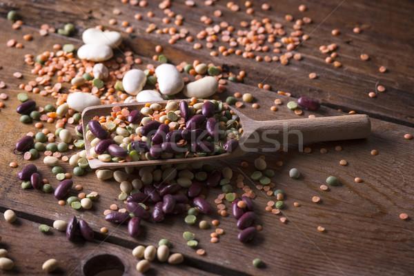 Mixed seeds legumes Stock photo © Fotografiche