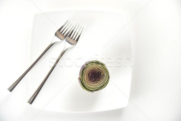 Fresco prato apresentação acompanhamento comida verde Foto stock © Fotografiche