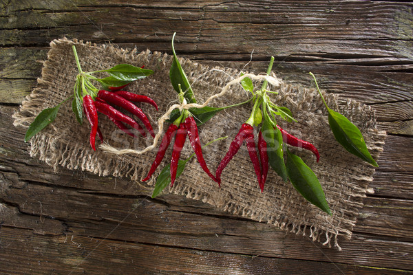 Bunch of hot pepper Stock photo © Fotografiche