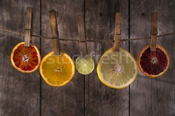цветами цитрусовые презентация Ломтики различный воды Сток-фото © Fotografiche