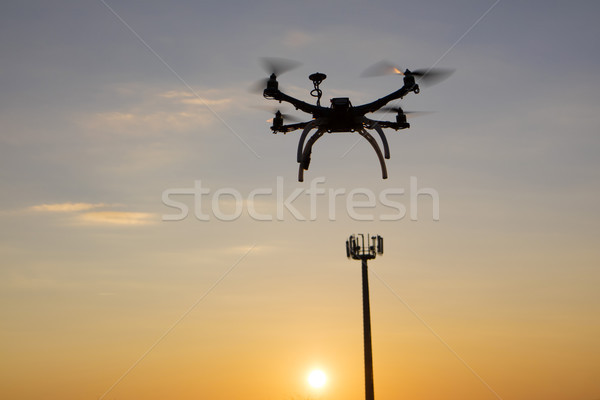 Antenne controle technische mobiele telefonie technologie Stockfoto © Fotografiche