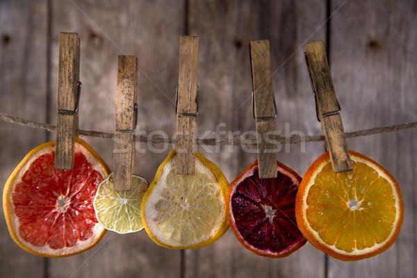 Renkler kurutulmuş narenciye tanıtım dilimleri narenciye Stok fotoğraf © Fotografiche