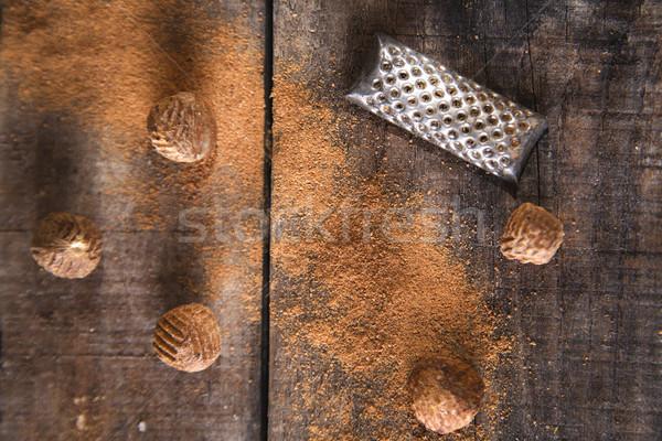 Nootmuskaat detail smaak uniek bijzonder Stockfoto © Fotografiche