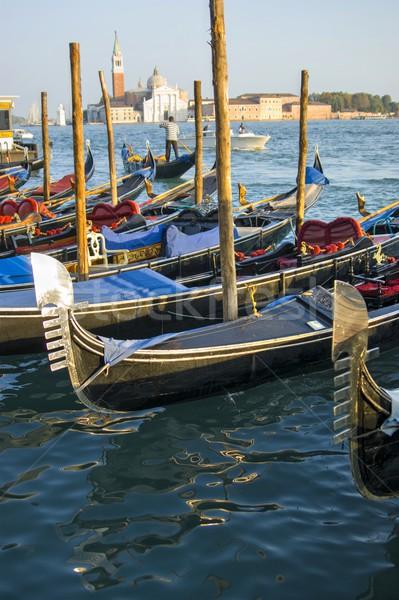 ナビゲーション ヴェネツィア 市 イタリア 方法 ボート ストックフォト © Fotografiche