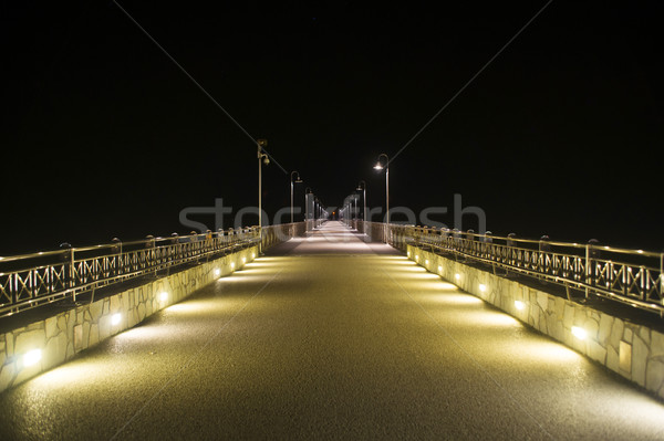 Marina doca noite ver pier toscana Foto stock © Fotografiche