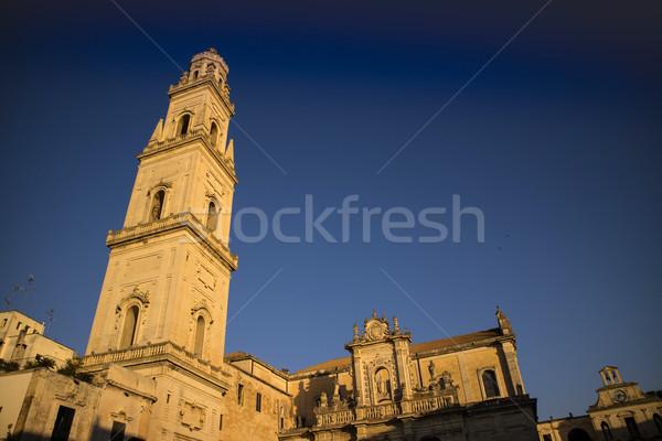 広場 大聖堂 表示 光 日没 イタリア ストックフォト © Fotografiche