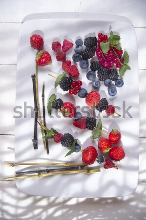 Skewer of berries Stock photo © Fotografiche